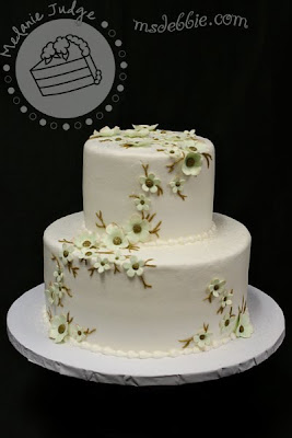 bronze green wedding cake