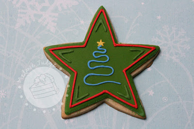 christmas star cookie sugar royal icing