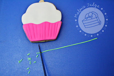 fondant cupcake cookie whimsical girly pink blue green tutorial