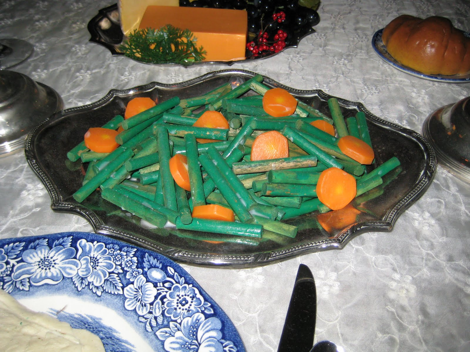 these green beans are just dowel rods cut up and painted green the. Black Bedroom Furniture Sets. Home Design Ideas
