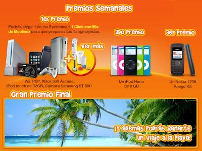 Premios promocion tang moyada videojuego(PSP,Wii,X box),mp3 viaje a playa Nacional