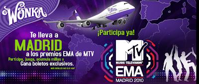 concurso wonka viaje EMA MTV Madrid