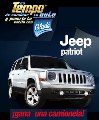 camioneta Jeep Patriot premio promocion tempo de cambiar tu auto y ponerle tu estilo con Glade