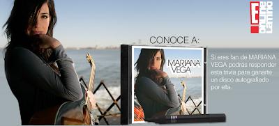 promocion E! online disco Mariana Vega