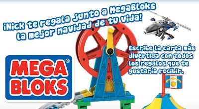 promocion mundonick Megabloks Navidad regalos 2010