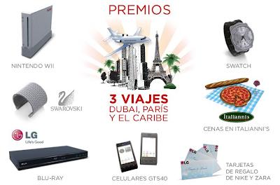 premios promocion LG regalate una navidad en 3D Mexico 2010