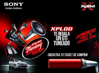 premio Automóvil Volkswagen GTI Standard Modelo 2011 promocion Xplod Tuning  Sony Style México