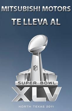promocion Super Bowl XLV Mitsubishi Motors Mexico 2011