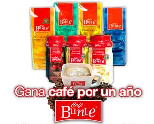 premio cafe por un año promocion cafe bunte Mexico 2011