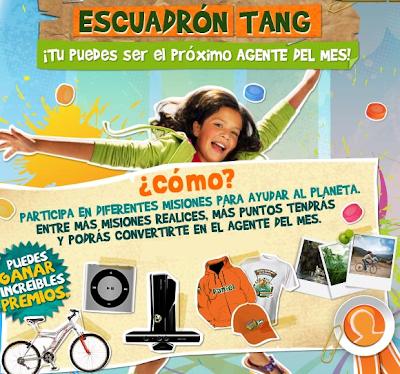 premios consola Xbox+Kinect 4gb, bicicleta Benotto Quart FSR-24, un Ipod Shuffle 2GB, dos chamarra, seis gorras y cuatro playera, un viaje ecoturístico promocion tang Mexico 2011