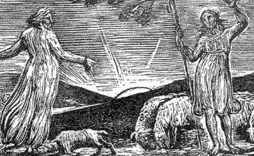William Blake:  The Pastorals of Virgil Illustration 1