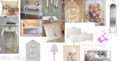 Vintage Shabby Chic Bedroom Theme | ❤ Katie-