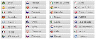 Sorteio para a copa africa 2010