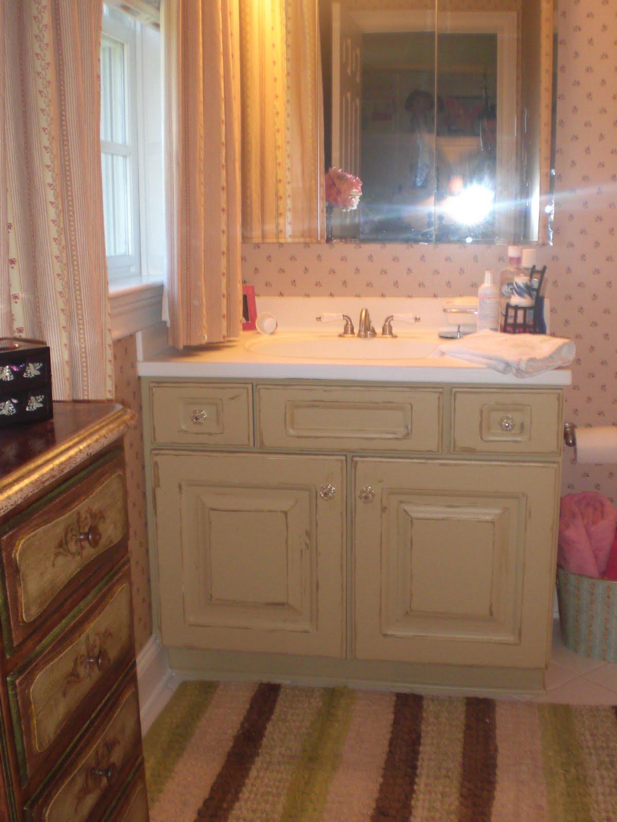 Painting Melamine Bathroom Cabinets builder's grade vanity ~