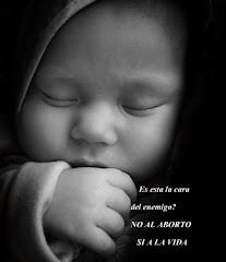 ESTA ES LA CARA DEL ENEMIGO?    NO AL ABORTO SI A LA VIDA
