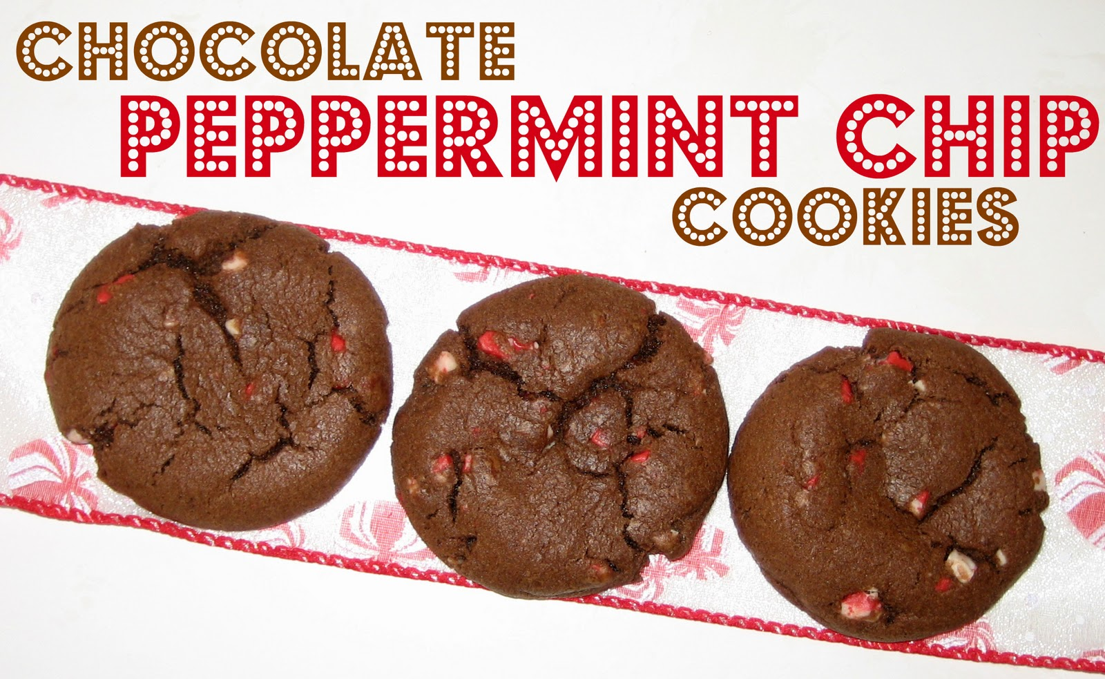 Peppermint Plum: {Chocolate Peppermint Chip Cookies}