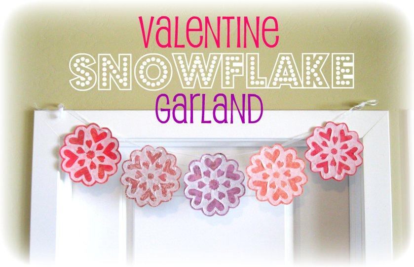Peppermint Plum: {Valentine Snowflake Garland}