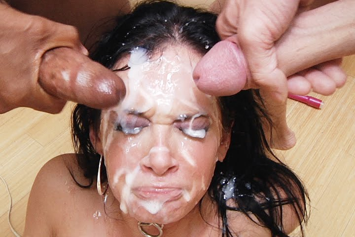 Cum eating husband watches wife fuck