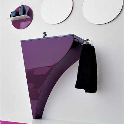 Site Blogspot  Shower Design on Modern Violet Bathroom Design