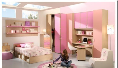 modern teen room design with pink decoration perfect for girls