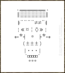 Ascii Frankenstein Monster In Silent Passage Text And Visual Art By Chris Derobertis Dero