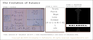 The Evolution of Balance (c) Copyright 2009 Christopher V. DeRobertis. All Rights Reserved. insilentpassage.com