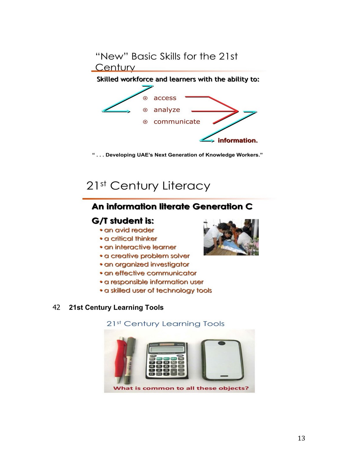 a 21st century learning system essay