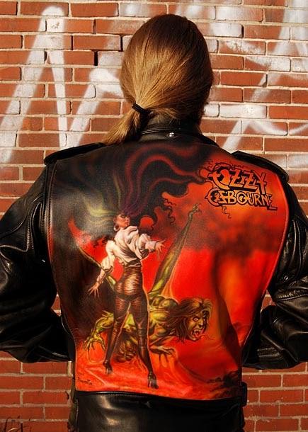 Airbrush Painting On Leather Jacket Ozzy Osbourne Car