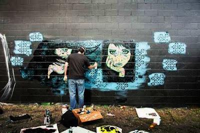 Stencil Graffiti Artist