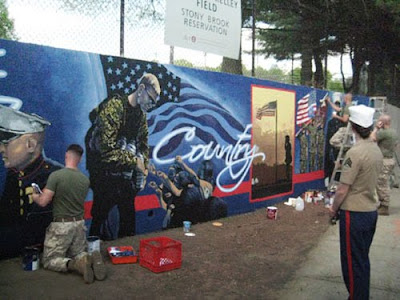 Marines graffiti artist