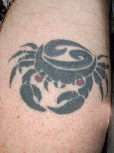 Crabs Symbol Sign Cancer Zodiac Tattoos
