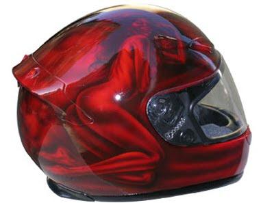 Style Airbrush Design on Helmet