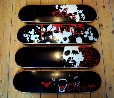 Skateboard graphics airbrush