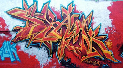 Red Fonts Graffiti Styles