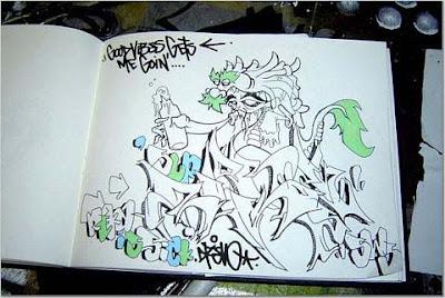Graffiti art sketsa