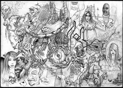 Black and White Design Graffiti  Sketches