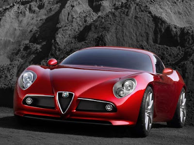 Alfa Romeo 8c Wallpaper Red color Front