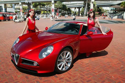 Alfa Romeo 8c  With Beauty Cars Models