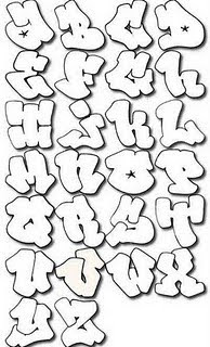 Awesome Graffiti Alphabet Bubble