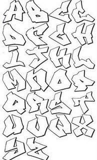 Cool Graffiti Alphabet Jagged