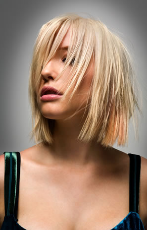 Bob Short hairstyle is ideal for straight hair.