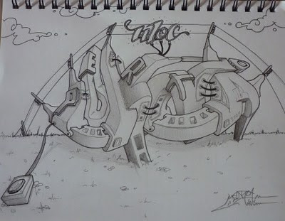 Awesome Graffiti Sketches 2010