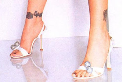 Alyssa Milano Celebrity Ankle Tattoo Picture