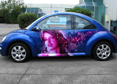 cars airbrush vw beetle