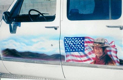 US Flag Truck Airbrush Designs