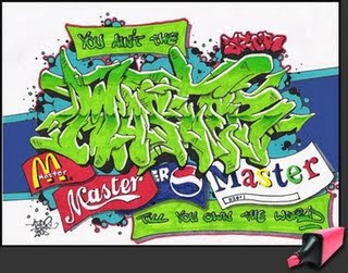 Green Master FontsGraffiti  Alphabet Sketches Letters