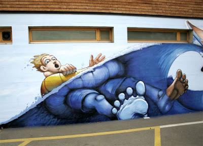 graffiti mural art character