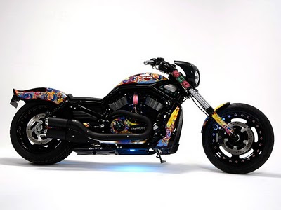 Modification sporty Airbrush Harley-Davidson Night Road 1