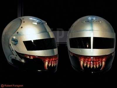 airbrush helmet predators tooth