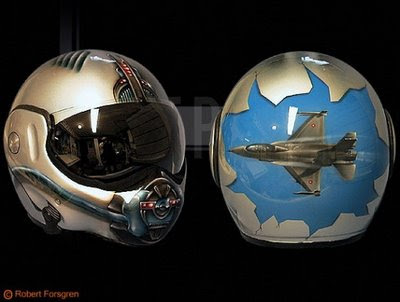 airbrush helmet fighter aircraft